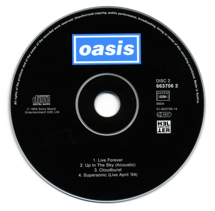 Congamag_Oasis - Live Forever (cd - single) Canciones para despertarse
