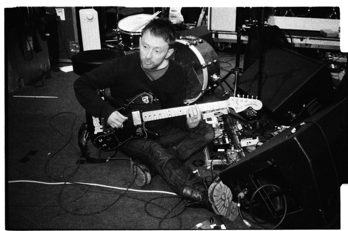 Congamag_Thom Yorke grabando In Rainbows