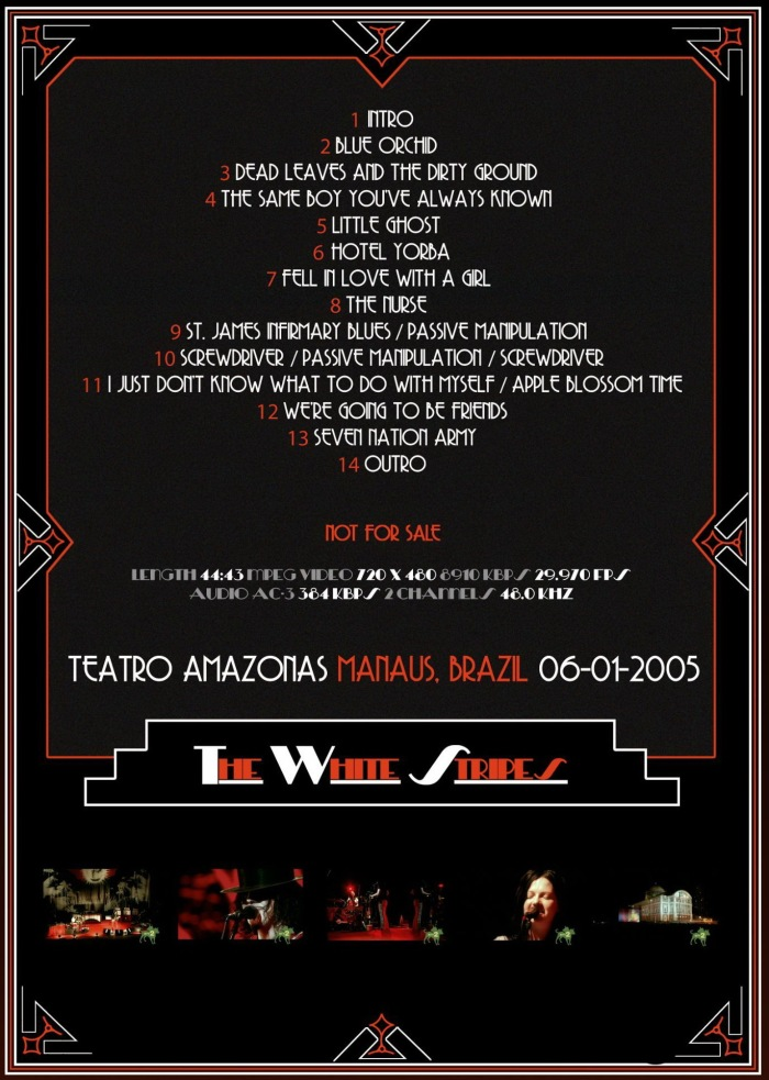 Congamag_The White Stripes - 2005 - Brasil - Set List