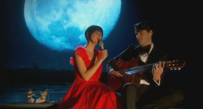 Congamag_Karen O y Ezra Koenig en la entrega de los Oscars