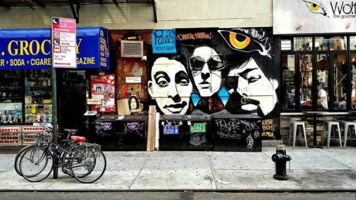 """Congamag_El mural que celebra los 25 años de """"Paul's Boutique"""", el disco de Beastie Boys."""